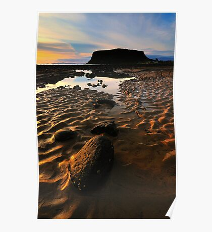 Sand Patterns and Tide Pools Poster