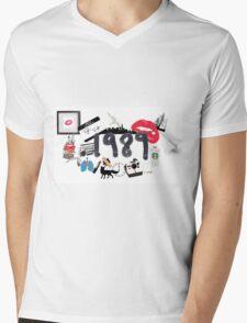 1989 Mens V-Neck T-Shirt