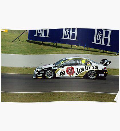 18, Jim Beam Car, Luff and Webb Poster