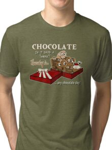 Chocolate - Thursday is any chocolate day Tri-blend T-Shirt