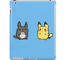Totoro and Pikachu iPad Case/Skin