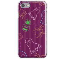 Halloween Neon Cyber Goth red stripey iPhone Case/Skin