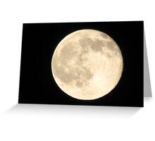full moon... Greeting Card