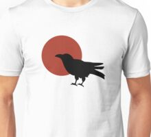 Red Moon and Crow Raven T-shirt (Large image) Unisex T-Shirt