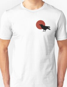Red Moon and Crow Raven T-shirt (Small image) Unisex T-Shirt