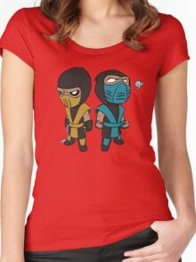 Scorpion & Sub-Zero Women's Fitted Scoop T-Shirt