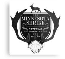 Minnesota Shrike Catering Metal Print