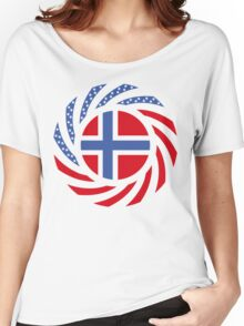 Bouvet American Multinational Patriot Flag Series Women's Relaxed Fit T-Shirt