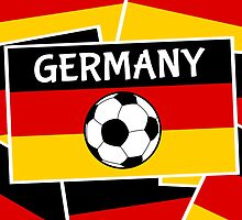 German Flag with Football by piedaydesigns