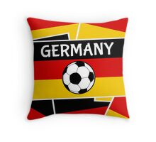 German Flag with Football Throw Pillow