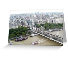 London - a View from London Eye. 2009 Greeting Card