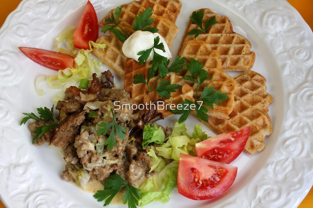 Potatoe Waffles And Chanterelles by SmoothBreeze7