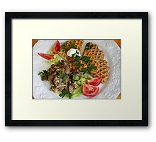 Potatoe Waffles And Chanterelles Framed Print