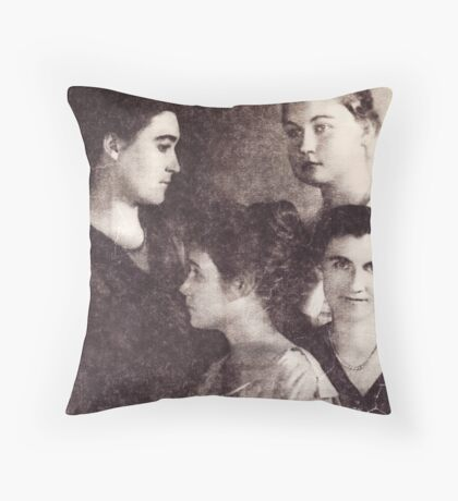 Paper Beauty Throw Pillow