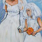 Bride and Flower Girl by Anthea  Slade