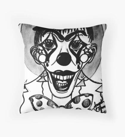 Happy Hell Circus Clown Throw Pillow