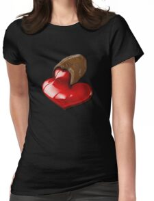 Chocolate - I Love You Womens Fitted T-Shirt