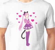 Pink Cat Girl Unisex T-Shirt