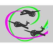 Aerobatic planes | Vivid Vapor trails Photographic Print