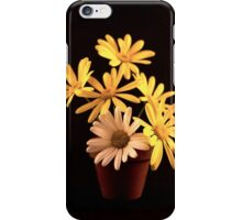 White and Yellow Daisies in a Red Pot iPhone Case/Skin