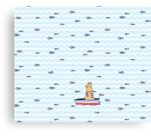 Salty sailor cat. Canvas Print