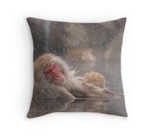 Snow soak Throw Pillow