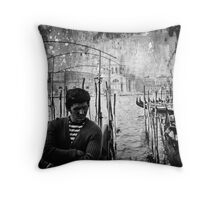 Waiting for you in Venice Throw Pillow