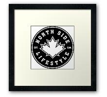 NSL Canada Black Leaf Crest Framed Print