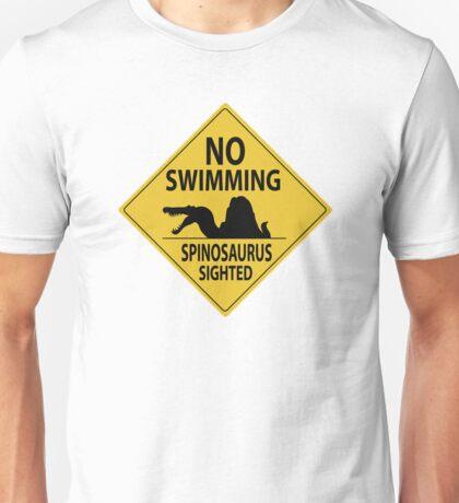 No Swimming - Spinosaurus Sign Unisex T-Shirt