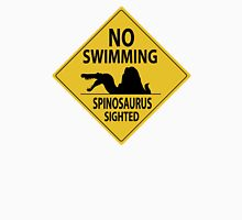 No Swimming - Spinosaurus Sign Unisex T-Shirt