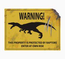 Damaged Raptor Warning Sign Kids Tee