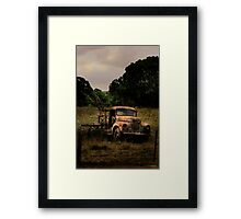 Retired to the back paddock Framed Print