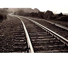 Old Railroad along the sea shore Photographic Print