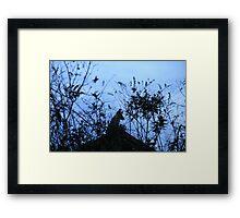Fox Silhouette Framed Print