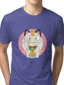Maneki meowth Tri-blend T-Shirt