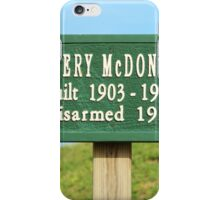 Fort Caswell Sign iPhone Case/Skin