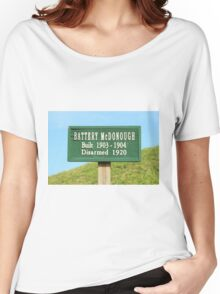 Fort Caswell Sign Women's Relaxed Fit T-Shirt