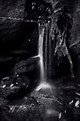 *Small Waterfall - Somersby Falls - mono* by Jeff Catford