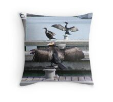 One  wing and a prayer Throw Pillow
