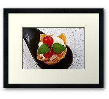Red Currant Fingerfood Dessert Framed Print