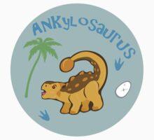 Cute Ankylosaurus Kids Tee