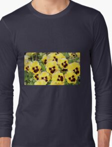 Yellow And Brown Flowers Long Sleeve T-Shirt