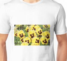 Yellow And Brown Flowers Unisex T-Shirt