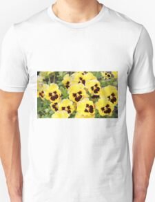 Yellow And Brown Flowers T-Shirt