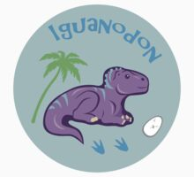 Cute Iguanodon One Piece - Short Sleeve
