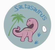 Cute Saltasaurus One Piece - Short Sleeve