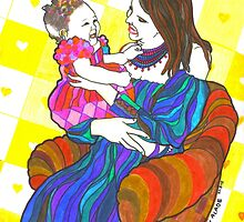 Happy Mother and child  by Oluwaseyi Alade