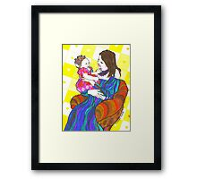 Happy Mother and child  Framed Print