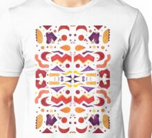 Bright Abstract Watercolor Shapes Unisex T-Shirt