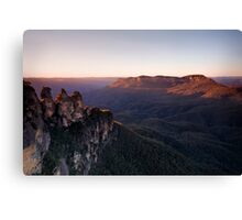 Sunrise at Echo Point, Katoomba Canvas Print